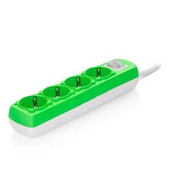 Picture of Sas 100-11-317 Colourline Power Strip with 4 Slots - Green