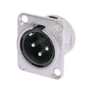 Picture of Neutrik NC3MD-L-1 3 Pole Male XLR Receptacle