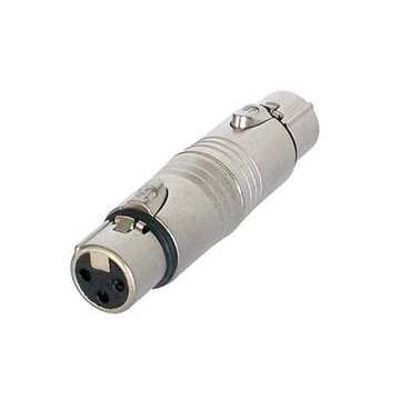 Picture of Neutrik NA3FF XLR to XLR Adapter