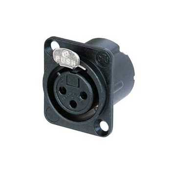Picture of Neutrik NC3FD-LX-B 3 Pole Female XLR Receptacle