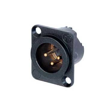 Picture of Neutrik NC3MD-LX-B 3 Pole Male XLR Receptacle