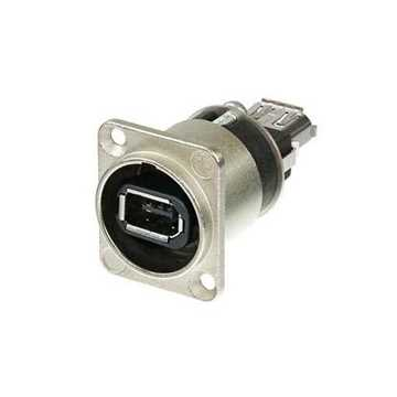 Picture of Neutrik NA1394-6-W Firewire Feedthrough Adapter