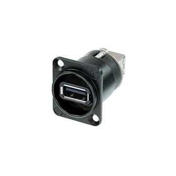 Εικόνα της Neutrik NAUSB-W-B Θηλυκό Βύσμα Διέλευσης USB 2