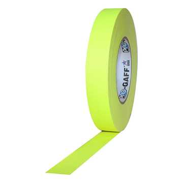 Picture of ProTapes Pro Gaff Cloth Tape 24mm x 25m - Fluorescent Yellow Matte