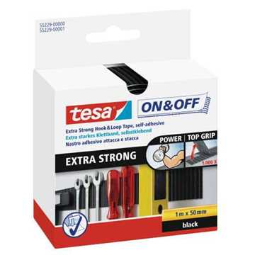 Picture of Tesa 55229 On & Off Extra Strong Tape - Black