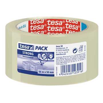 Picture of Tesa 57167 Carton Sealing Tape Strong - Transparent