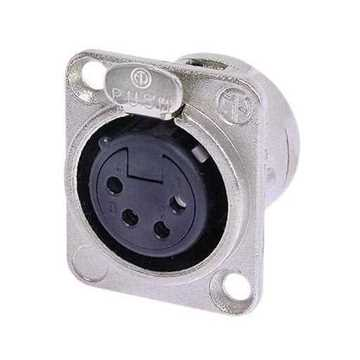 Picture of Neutrik NC4FD-L-1 4 Pole Female XLR Receptacle