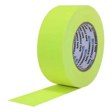 Picture of ProTapes Pro Console Paper Tape 24mm x 55m - Fluorescent Yellow Matte