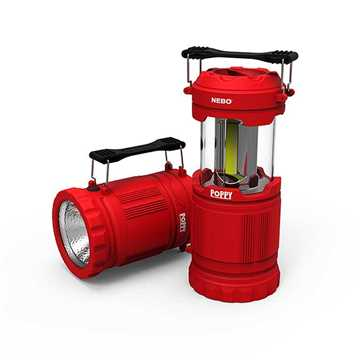 Picture of NEBO 6555 Poppy Lantern Flashlight - Red