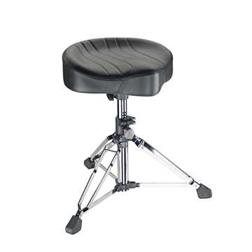 Picture of K&M 14000 Gomezz Drummer Throne with Black Leather - Chrome