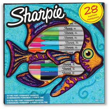 Picture of Sharpie 2061125 Fine Point Markers (28 Items) - 28 Colors